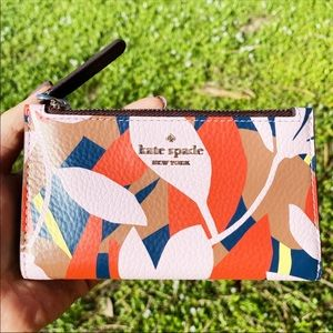 Kate Spade Bifold Wallet Leather Pink Multi